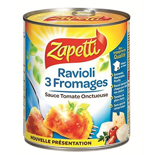 Zapetti Ravioli 3 Käse 800 g - ( Einzelpreis ) - Zapetti ravioli aux 3 fromages 800 g