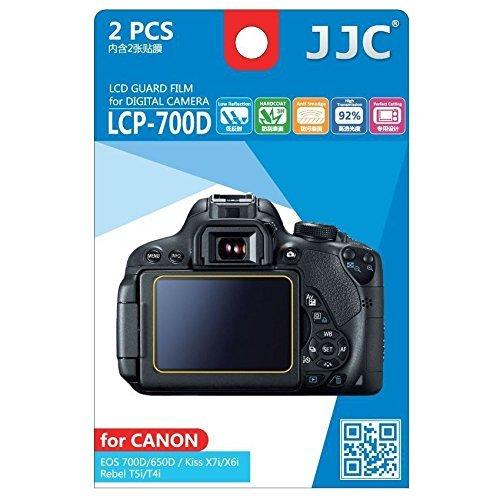JJC Guard Film displayschutzfolie passgenau für Canon EOS 650D, 700D / Rebel T4i, T5i - Anti-Kratzer