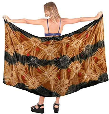 Bademode Badeanzug einpacken decken Badebekleidung Frauen Sarong Pool Abnutzungs Wrap Badeanzug Zeitkleidung braun bis
