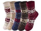 Cindeyar 5 Paar Mädchen Socken Lässige Damen Socken atmungsaktive Baumwolle Winter Socken , Verschiedene Farben und Motive (35-38, Stil 7)