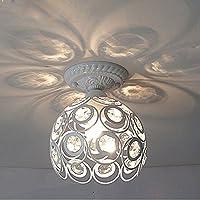 Hoobor House Led il soffitto di cristallo lampada luce bianco/nero Soggiorno corridoi , Bianco e