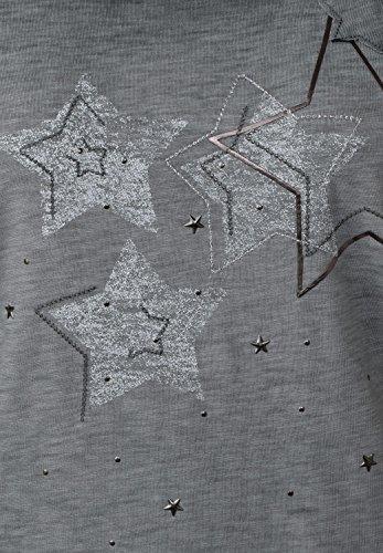 CECIL Damen 3/4-Arm Shirt mit Sternen dark silver (silber)
