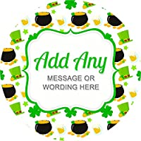 St Patricks Day V2 Sticker Labels Personalised Custom Seals Ideal for Party Bags Sweet Cones Favours Jars Presentations Gift Boxes Bottles Crafts