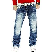 Cipo   Baxx Herren Jeans Hosen Dicke Naht Freizeit Streetwear Slim -  Regular-Fit 9898bcb68e