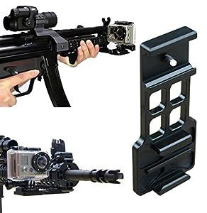 LC Prime® Cantilever Picatinny Weaver Gun Rail Side Mount for GoPro Hero 4/3+/3/2/1 Camera