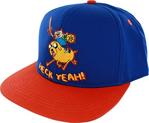 Adventure Time Finn & Jake Heck Yeah Adjustable Flat Bill Baseball Chapeau Hat