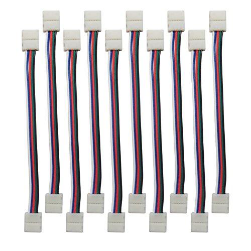 alightings LED Strip Anschlüsse für 8mm Breite 35282835Single Farbe Flex LED Strip Lights, 10mm 5pin strip to strip jumper 2 Gauge-jumper-kabel