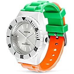 Irish Flag Watch, Six Nations Rugby, Tricolour of Ireland, Adult Unisex Sports Watch by Jester