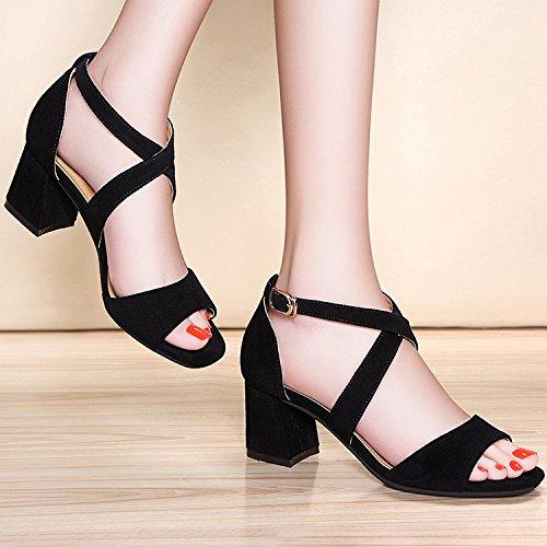 ZPPZZP La sig.ra sandali in stile occidentale in un pacchetto con il a tacco alto con bold 38EU