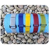 2 x Grey Adjustable Yoga Mat Straps/Bands