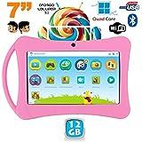 Tablette enfant 7 pouces Android 5.1 Bluetooth Quad Core 12Go Rose