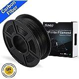 SUNLU PLA Carbon Fiber 3D Printer Filament, PLA Carbon Fiber 1.75 mm, 3D Printing filament Low Odor Dimensional Accuracy +/- 0.02 mm, 2.2 LBS (1KG) Spool, PLA Carbon Fiber