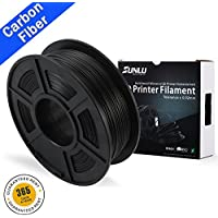 SUNLU Wood Filament-Carbon Fiber - 1.75 mm 3D Printer Filament,1kg Spool (2.2 lbs)