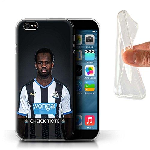 Officiel Newcastle United FC Coque / Etui Gel TPU pour Apple iPhone 6+/Plus 5.5 / Pack 25pcs Design / NUFC Joueur Football 15/16 Collection Tioté