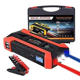 YDYJZN Arrancador De Coche Booster 800A 20000Mah Arrancador Batería Diesel Portátil Jump Starter Profesional Arranque Potente(6.5L Gas O 5.5L Diesel),para Moto,Tractor,Barco,Furgoneta Y Camiones
