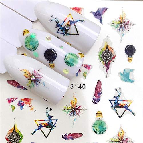 NCKLY Nagel-Aufkleber 1 Maniküre Wasser Applique Tänzer/Ballett Slip Nagel Dekoration Tipps Nagel Sticker Nagelpflege -