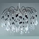 Lightmode Foyer Pendant Light Shade Crystal: Black/Clear Best Review Guide