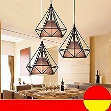 zll creativo único de Hohle pájaro jaula lámpara retro Hierro Lámpara Café Bar Contador Dormitorio restaurante Diamante Araña