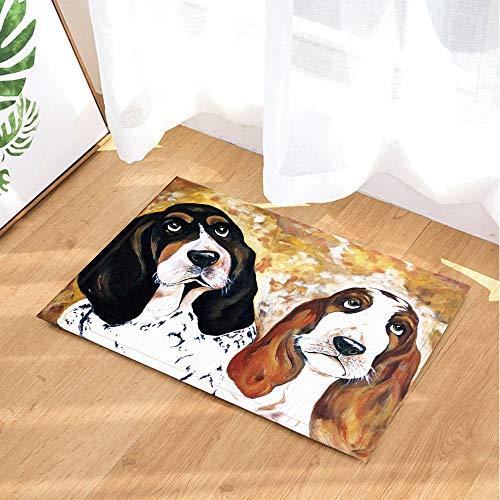 32288dded8b60 fdswdfg221 Child Bath Rugs by Cute Pet Dog Basset Hound Oil Paintings Art  Printing Non-Slip Doormat Floor Entryways Indoor Front Door Mat Kids Bath  ...