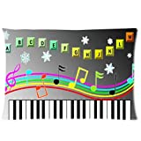 Piano Keyboard Background Comfortable Cotton&Polyester...