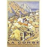 FRANCIA VINTAGE POSTER CARTEL PUB RETRO 50x70cm Corsa pueblo paisaje de la oficina de turismo de Francia