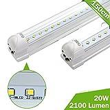 OUBO 150cm LED Leuchtstoffröhre komplett Set mit Fassung Neutralweiss 4000K 23W 2500lm Lichtleiste T8 Tube mit klarer Deck