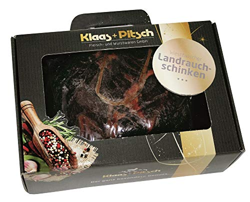 Klaas + Pitsch - Geschenkset - Schinkenkoffer aus 800g westfälischer Landrauchschinken