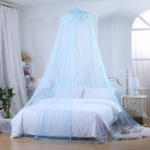 Jeteven Betthimmel Baldachin Mückenschutz Insektenschutz netz für Doppelbetten Baby Kid Kinder daheim oder für die Reise,Hohe 260cm (Hellblau)
