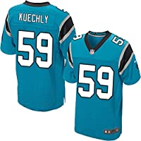 cjbaok NFL Jersey Love Carolina Panthers 1# Newton 88# 59# Elite Edition Camisetas Bordadas Top de Manga Corta,Blue-59,XXL