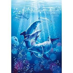 Clementoni-39136-Puzzle 1000 pc-Dolphin Symphony