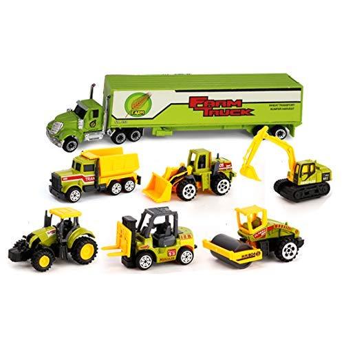FEICHAO Kinder Puzzle Legierung Auto Spielzeugauto Modell Maßstab 1:64 Farm Team Set XY8337-2