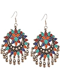 Tiaraz Fashion Stylish Oxidised Afghani Tribal Fancy Party Wear Earrings for Girls and Women