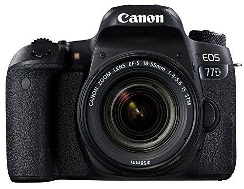 Canon EOS 77D 24.2MP Digital SLR Camera + EF-S 18-55mm 4-5.6 IS STM Lens