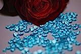 Lotto di 1.000coriandoli a diamante per decorazione di tavolo di matrimonio, colore: turchese, dimensioni 6mm, 1 carato