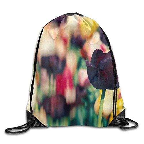 Print Tulip Rock (Trsdshorts Unisex Beautiful Tulip Print Drawstring Backpack Rucksack Shoulder Bags Gym Bag Sport Bag)