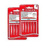 Singer, Kit di 2 confezioni di aghi 804R 2020 90/14, tessuti di cotone, per macchine da cucire 130/705 H