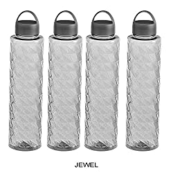 Steelo Jewel Water Bottle, 1000ml, Set of 4, Grey