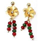 Aarya 24Kt Crystal Dangle & Drop Earring...