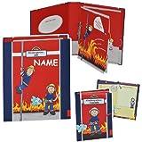 Unbekannt 2 tlg. Set: Freundebuch + Ringbuch / Sammelordner  Meine Kindergartenzeit  Album - incl. Name - Kindergarten / Dokumente A4 - Feuerwehr / Feuerwehrmann Frid..