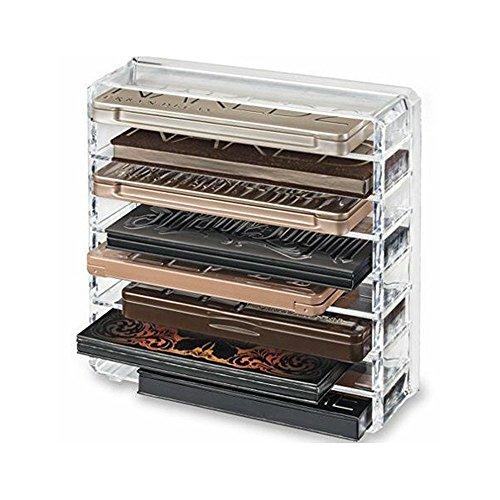 hothuimin Make-up-Organizer, Acryl Klar Make-up Kosmetik Organizer Halter Schmuck Display Box Badezimmer Aufbewahrung Fall mit 8Schubladen (Make-up-halter)