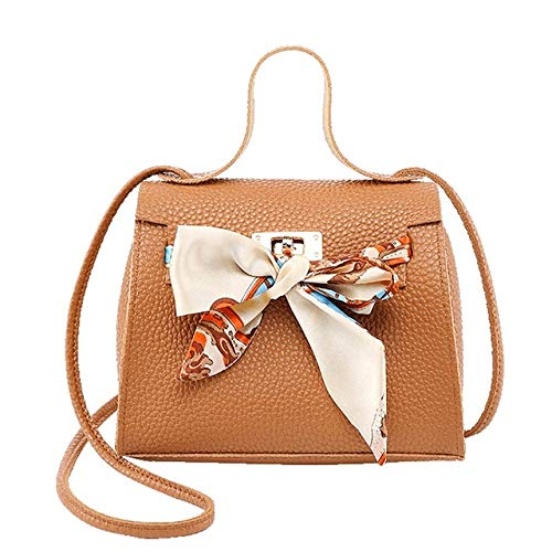 Europäische und amerikanische beiläufige Klappentasche Kuriertasche Frauen Handtasche Weibliche Schulter Partei Handtaschen Damen Taschen Braun 17,5 * 7,5 * 12,5 - Hydro-hot-pack