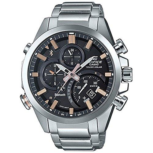 Casio Orologio Cronografo Quarzo Uomo con Cinturino in Acciaio Inox EQB-500D-1A2ER