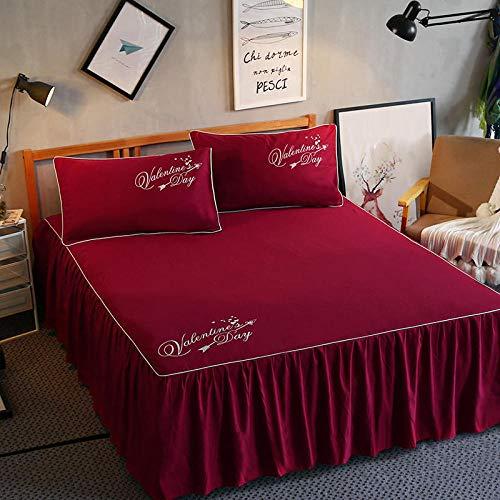 zlzty Bett röcke für Schlafzimmer schlafsaal matratzenschoner Home Hotel Druck bettwäsche bettdecke bettwäsche abdeckungen Spannbetttuch @ 090_120cm * 200cm -