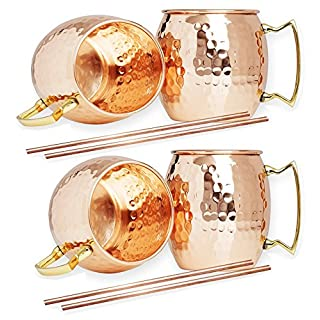 Zap Impex® Handmade Pure Copper Hammered Moscow Mule Mug (4)