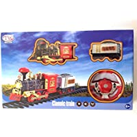 Classic R/C Radio Remote Control Train Set Railway Toy Carriage Real Steam Smoke Horn Sound Lights - DIMENSIONS: 223 CM - Compare prices on radiocontrollers.eu