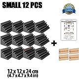 Super Dash 12 Unidades de 12 X 12 X 24 cm Insonorización Negro Bass Trap Espuma Absorción Aislamiento Acústica Paneles Tratamiento Conjunto SD1133 (NEGRO)