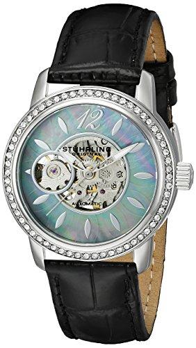 Stuhrling Original 856.02 - Orologio da polso, donna, pelle, colore: nero