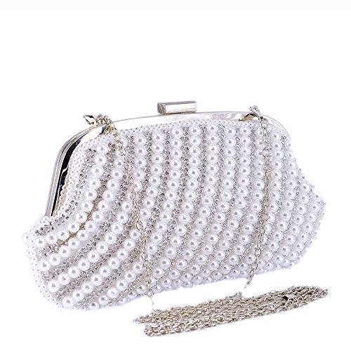 Sxon, Clutch Da Donna Bianco Bianco S Bianco