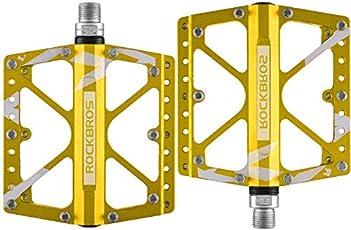 ROCKBROS Fahrradpedale Flat Pedale Plattform Pedale Downhill/MTB/ BMX 3 Bearing Integriert 9/16 Zoll Rutschfest