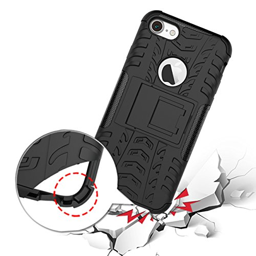AddGuan Apple iPhone 6/6S Case,Armatura PC+TPU Layer Doppio Protettivo Antiurto Amovibile 2-in-1 funzione staffa Telefono Caso Adatto Per Apple iPhone 6/6S Case (Rose) Verde
